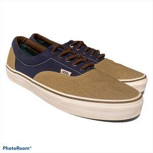Vans Authentic Navy Blue/Brown Skate Shoes